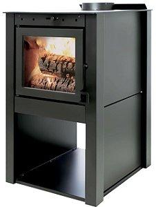 31045 Lareira/Calefator  FogoPro Canadense Preto Metalico SE