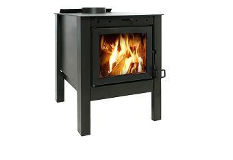 31043 Lareira/Calefator FogoPro Canadense Preto Metalico SE