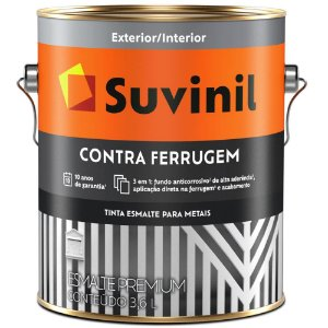26908 TINTA SUVINIL ESMALTE CONTRA FERRUGEM PRETO 0,9L