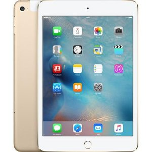 "iPad Mini 4 16GB Wi-Fi Cellular 7.9"" 8MP Dourado"
