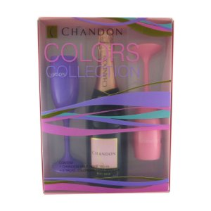 Kit Espumante Chandon Rosé Brut 750ml c/  2 taças