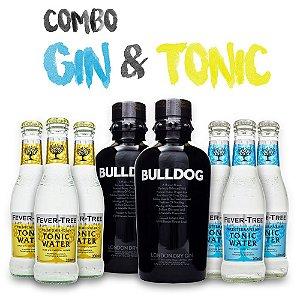 Combo Gin & Tonica - 2x Gin Bulldog + 6x Tônica Fever-Tree
