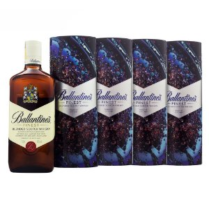 4x Whisky Ballantine's Finest Ed. Especial Lata 750ml