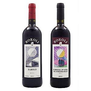 Vinho Boroli Barolo DOCG + Vinho Boroli Barbera D'Alba Quattro Fratelli 750ml