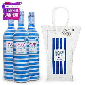 Compre 3 Vinhos Rosé Piscine e Ganhe Ice Bag