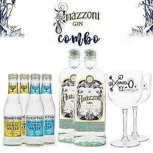 Combo Gin Amázzoni + Tônicas Fever-Tree + Taças