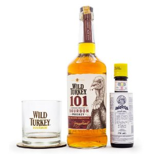 Kit Cocktail Old Fashioned - Wild Turkey Bourbon 101 + Angostura Bitter