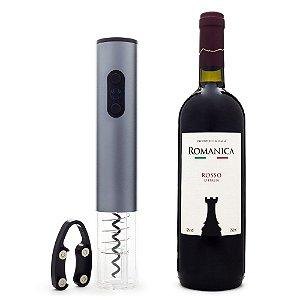 COMPRE Saca-Rolhas Automático GANHE Vinho Romanica Rosso D'Italia 750ml