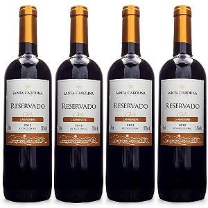 4un Vinho Santa Carolina Reservado Carmenère 750ml