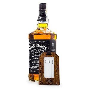 Kit Whiskey Jack Daniel's 1L Edição Especial Travel Pack - Identificador de Bagagem