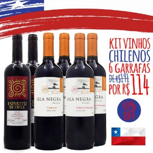 Kit Vinhos do Chile - 6 Garrafas