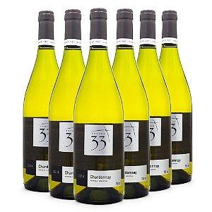 6un Vinho Latitud 33 Chardonnay 750ml