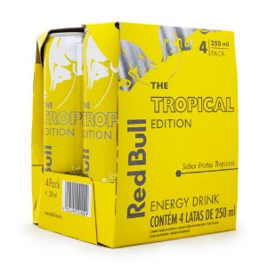 Pack 4un Energético Red Bull Tropical Edition 250ml