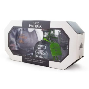 Kit Tequila Patrón Silver + Taça + 2 Shots