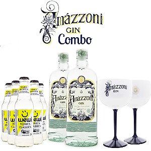 Combo Gin Amázzoni + Tônicas Wewi + Taças