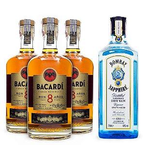 Combo Rum Bacardi 8 Anos + Gin Bombay Sapphire