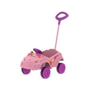 Carro Kid Car Passeio Rosa Bandeirante - LM