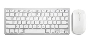 Multilaser Teclado e Mouse Wireless Mini Slim 2.4GHz - TC165 Prata e Branco