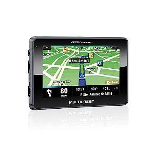 """Navegador GPS Multilaser Tracker III Tela 4.3"""" Preto - GP033"""