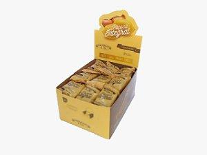 Paçoca Integral de Amendoim com Mascavo e Melado - display com 36 unidades de 25g