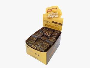 Paçoca Integral de Amendoim com Mascavo, melado e alfarroba - display com 36 unidades de 25g
