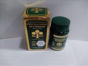 Própolis Verde 86% C/ Vitamina C e E 60 cápsulas 500mg - Wax Green