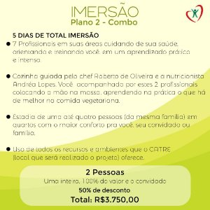 PROJETO IMERSÃO - COMBO DUAS PESSOAS