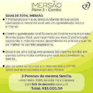 PROJETO IMERSÃO - COMBO FAMÍLIA  3 PESSOAS