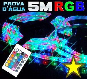 Fita Ultra Led 5050 RGB 300 Leds Prova Dágua Rolo 5 Metros