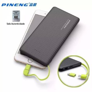 Carregador Portátil Power Bank Pineng Pn-951 10.000 Mah Slim Original Universal