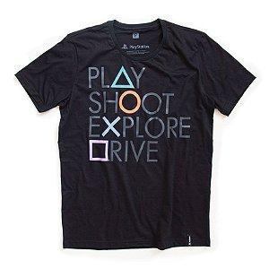 Camiseta Playstation Botões - Studio Geek