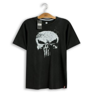 Camiseta Marvel Justiceiro Skull - Studio Geek