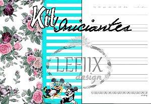 Miolo Digital Kit Iniciantes (IMickey+Pautado+Floral)
