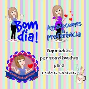 Arquivo Digital Pacote Personalizado de figurinhas Redes Sociais