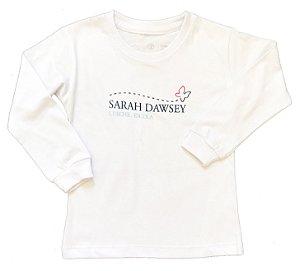 CAMISETA MANGA LONGA (ECOLÓGICA - 100% ALGODÃO ORGÂNICO) - Educação Infantil Sarah