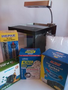 ( PACK IDEAL ) Aquario 10lts com sump Betas e Camarões 110V