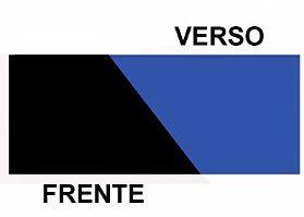 PAINEL DECORATIVO DUPLA FACE  1M ( PRETO E AZUL)
