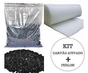 KIT  CARVÃO ATIVADO (1000G) + PERLON (55X70)