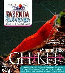 Sal para NEOCARIDINAS GH+ KH + 60g Fazenda Submersa