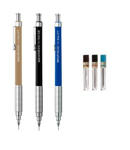 Kit com 3 Lapiseiras Pentel Graph 620 0,3mm 0,5mm 0,7mm  em Blister