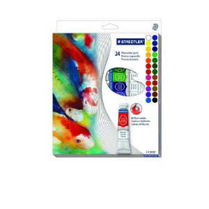 Estojo Aquarela Staedtler Karat Water Colors 24 Cores
