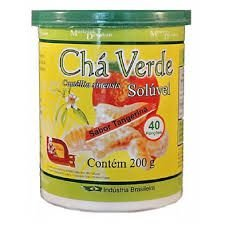 Chá Verde solúvel sabor tangerina 200gr. - FRETE GRATIS
