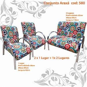 Conjunto Poltrona decorativa Araxá