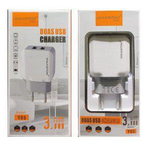 Carregador Duplo USB 3.1A H´Maston Pro