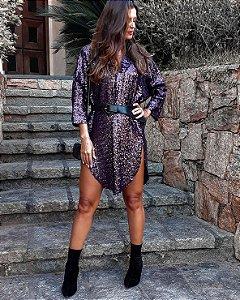 Vestido kimono purple