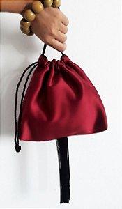 Bolsa saquinho vermelho cereja
