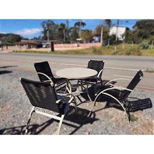 Jogo de cadeiras Lana com mesa ripada