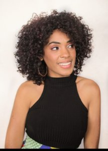 Peruca half Wig ELI COR #1B/BORGONHA (fibra futura)