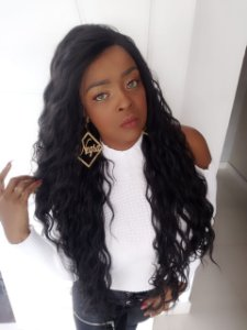 Front lace Denise (human hair blend )