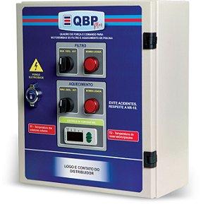 QBP Plus - Quadro de Motobomba para Filtro e Aquecimento da Piscina+ Relé e controle remoto